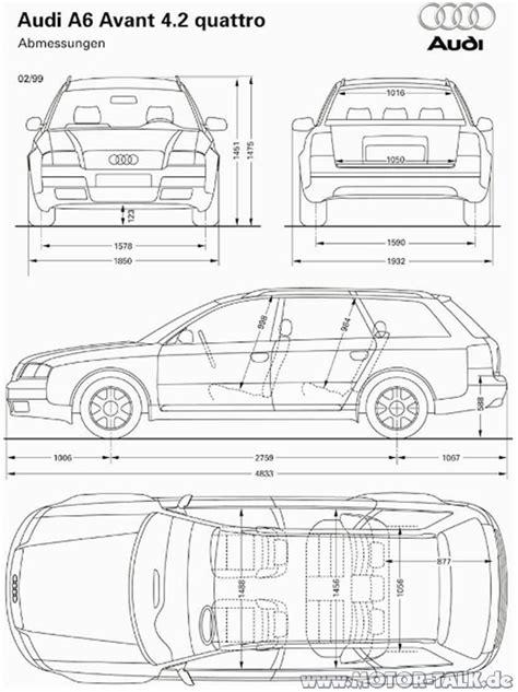 Audi A6 Abmessungen by Abmessungen V8 Fahrzeugbreite Audi A6 4b 204276434