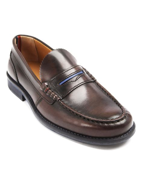 hilfiger loafer shoes hilfiger loafer brown moccasins in brown for