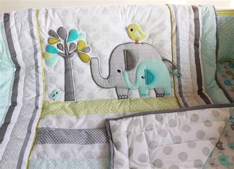 baby bedding set uk aliexpress buy 7 pcs elephant baby bedding set