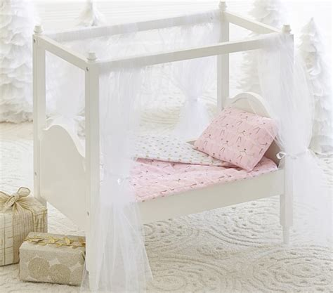 doll canopy bed doll canopy bed bedding pottery barn kids
