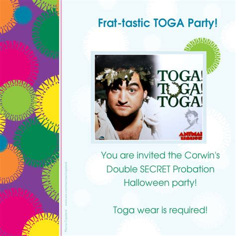 the corwin s double secret probation halloween party