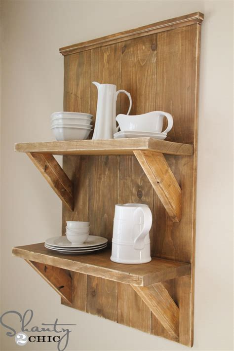 check out easy diy shelf made from reclaimed wood