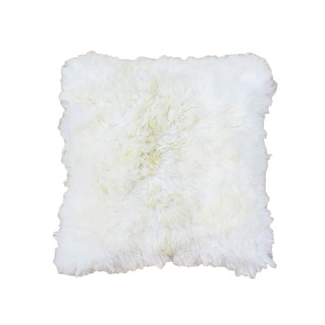 white alpaca pillow 24 quot side fur taxidermy mounts