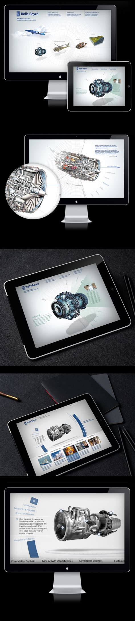 rolls royce annual report on behance