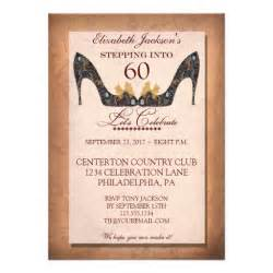 60th birthday invitation vintage floral shoe 60th birthday invitation 5 quot x 7