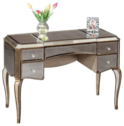 Bathroom Vanity Table with Mirrored Bedroom Vanity Table Traditional Bathroom Vanities And Sink Consoles By Hayneedle
