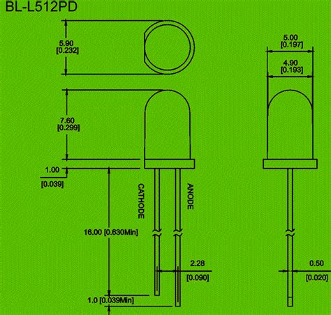 diode sizes 512 5mm silicon photo diodes