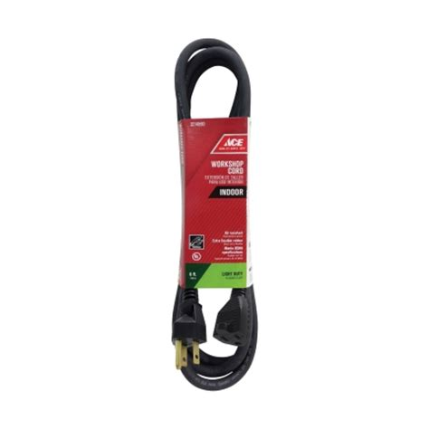 ace hardware extension cord ace indoor extension cord 16 3 sjo 6 ft l black ou jow163