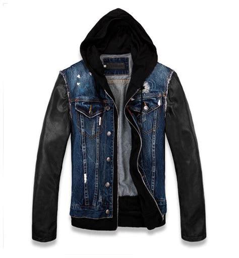 denim jackets india mens black denim jacket leather sleeves india buy mens