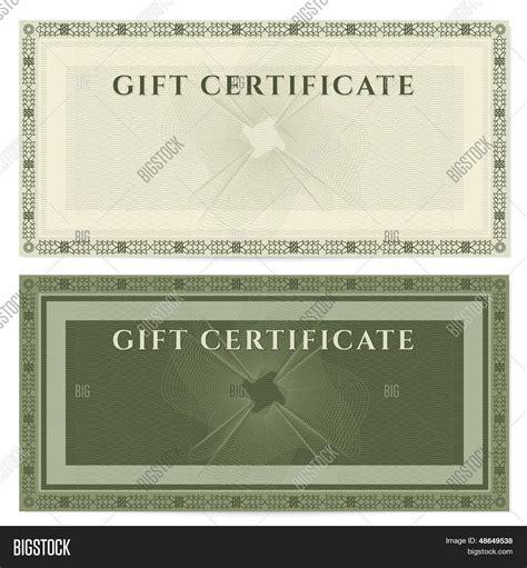 gift voucher certificate vector photo bigstock