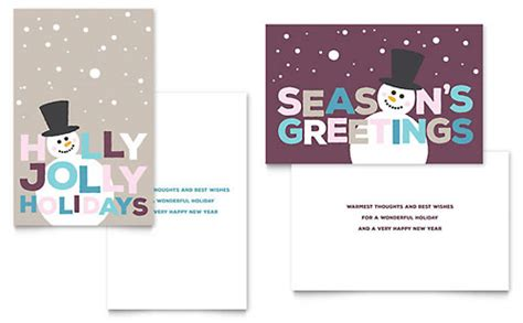 half fold greeting card template templates station