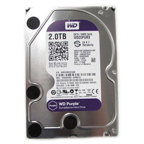 Wdc 2tb Purple Surveillance 35 Sata Iii western digital purple wd20purx 2tb sata 3 5 quot surveillance disk drive drives