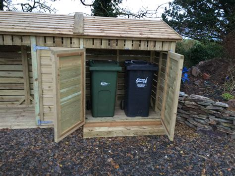 Shed Retailers by Log Store With Bin Cupboards The Wooden Workshop