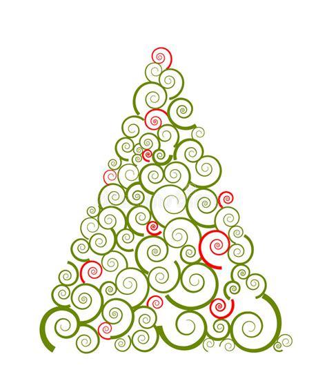 silueta de árbol de navidad silueta remolino 225 rbol de navidad ilustraci 243 n vector ilustraci 243 n de tarjeta verde