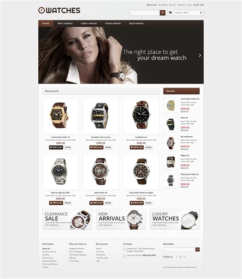 responsive watches store magento theme 46807