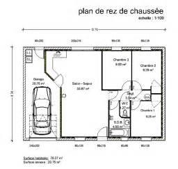 plan plain pied 120m2 4 chambres plan m