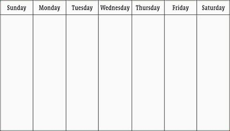 calendar template week search results for blank 5 day work week calendar