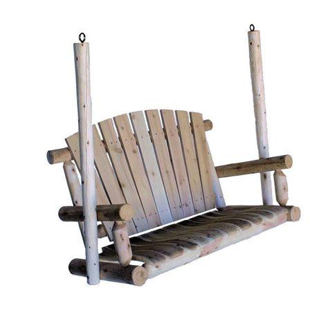 lowes lakeland shop lakeland mills 2 seat wood rustic porch swing at