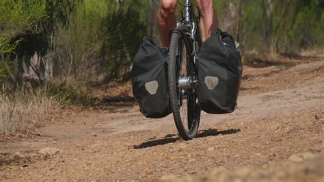 best panniers where to best carry a load when bicycle touring front or
