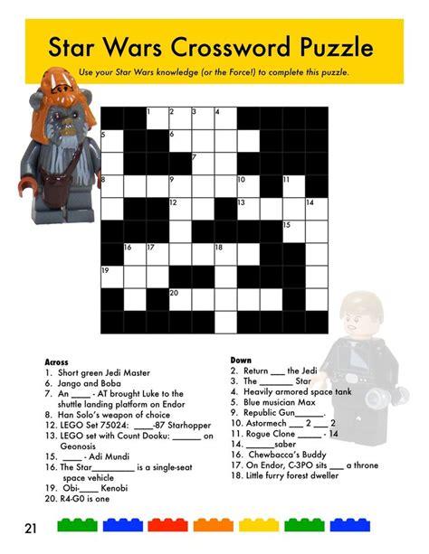 printable crossword puzzle star wars 35 best images about star wars star trek on pinterest