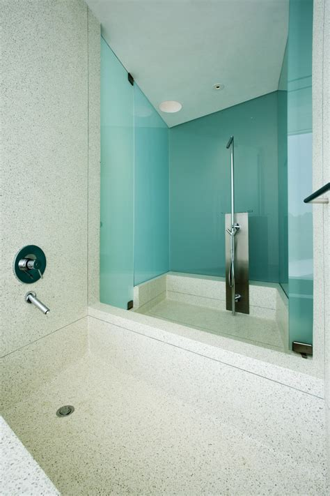 Glass Wall Shower by Glass Wall Shower Bathroom Modern With Andy Byrnes