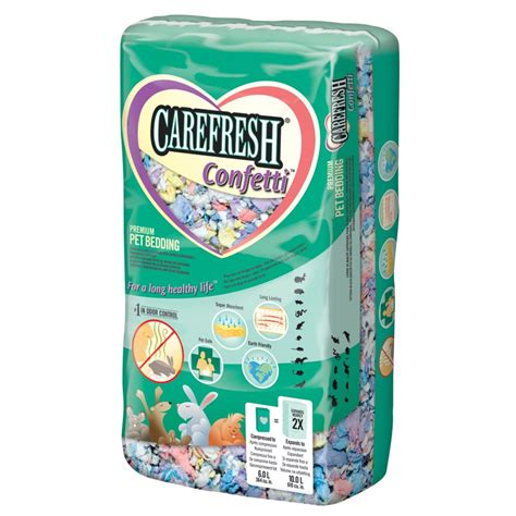 carefresh small animal bedding confetti 10 litre feedem
