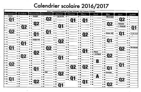 Calendrier 2016 2017 Par Semaine Calendrier 233 E Scolaire 2016 2017 Lyc 201 E Jacques Pr 201 Vert