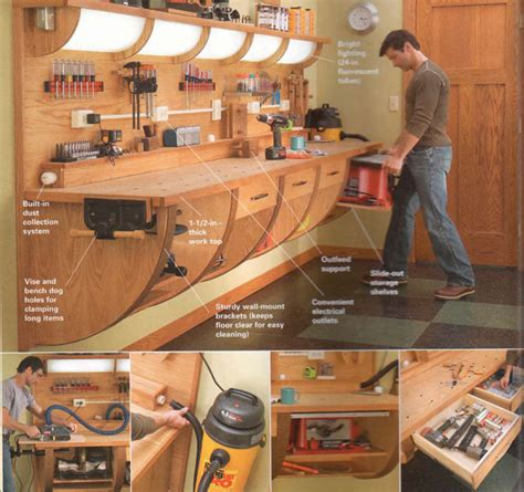 workshop work bench 35 diy garage storage ideas to help you reinvent your