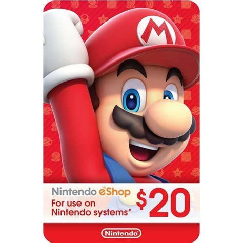 Nintendo Eshop Usa 20 nintendo eshop 20 usa switch wii u 3ds scheda up