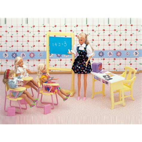 barbie doll house toys miniature classroom furniture mini accessories for barbie doll house classic toys for