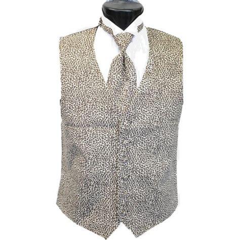 jaguar tuxedo vest and tie set