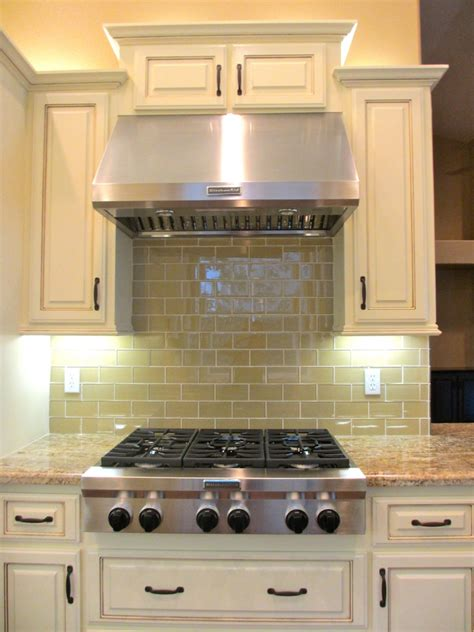 Glass Kitchen Backsplash Tiles by Khaki Glass Subway Tile Modern Kitchen Backsplash Subway