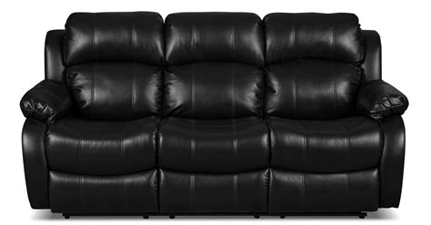 Black Fabric Reclining Sofa Omega Leather Look Fabric Reclining Sofa Black United Furniture Warehouse