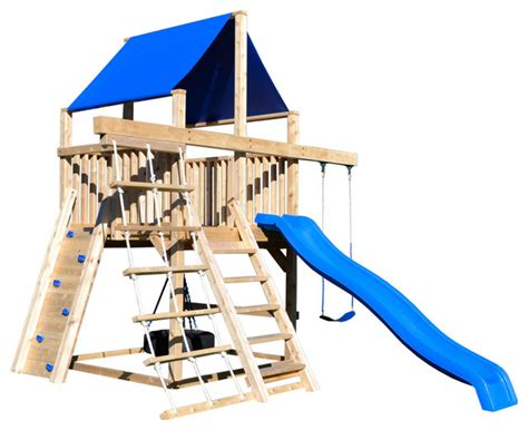 swing set spacing triumph play systems bailey space saver climber
