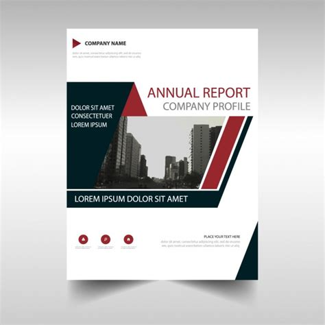 polygonal geometric brochure annual report vector free