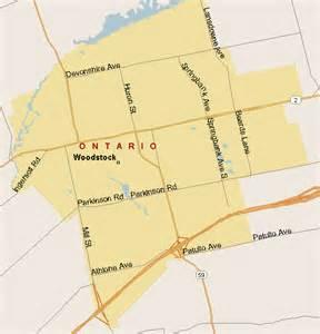 woodstock map woodstock map region ontario listings canada