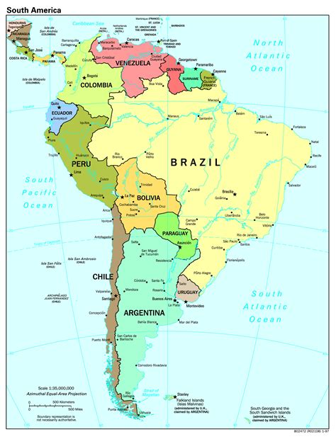 america cities map maps of south america and south american countries