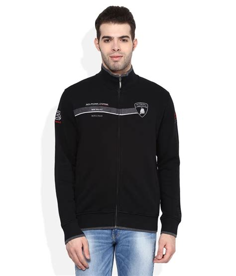 Automobili Lamborghini Clothing by Automobili Lamborghini Black Zippered Sweatshirt Buy