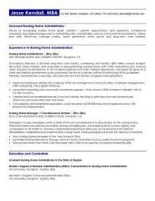 Nursing home administrator resume sample quotes