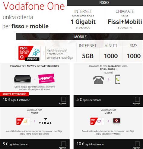 offerta mobile vodafone vodafone one offerta unica fisso e mobile per famiglie