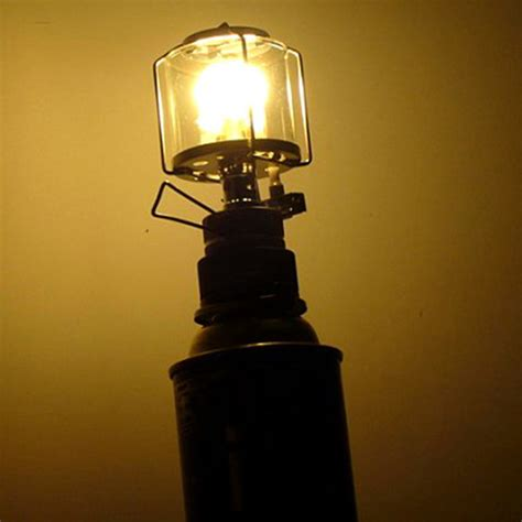 Gas L Light mini portable cing lantern gas light tent l torch hanging glass l chimney butane 80lux
