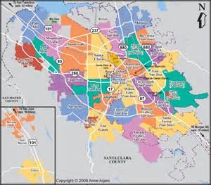 San Jose County Map by San Jose Real Estate Market