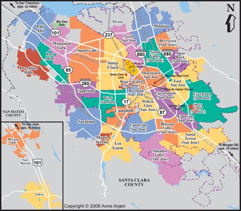 san jose neighborhood map san jose real estate market
