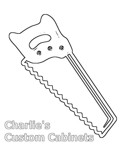 Chainsaw Coloring Pages free coloring pages of saw hammer