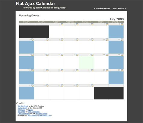 calendar layout js jquery calendar events calendar template 2016