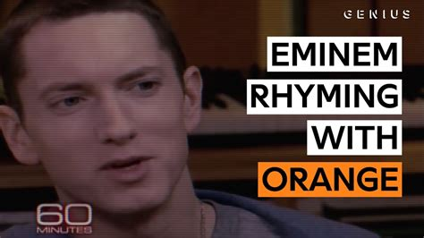 eminem orange eminem shows anderson cooper the unique way he creates