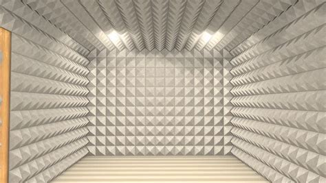 Sound Proof Room by Sound Proof Room Anechoic Chamber Stock Footage