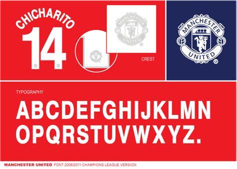 Custom Font Nameset Manchester United 2017 2018 font manchester united 2008 11 chions league timix