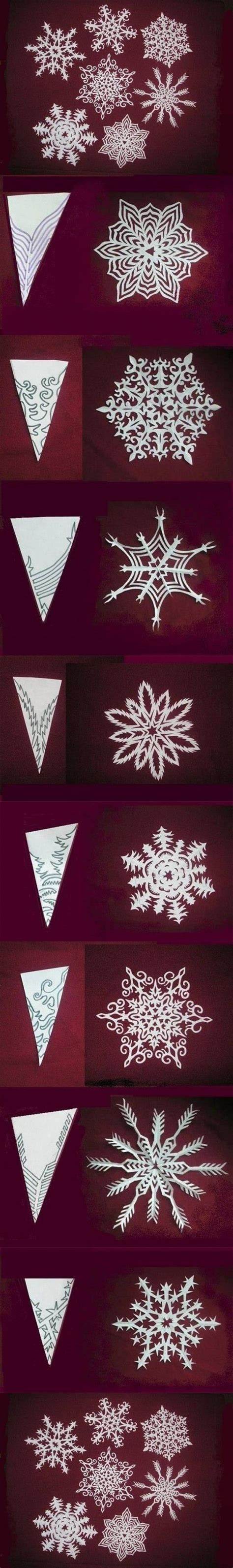 How To Make Pretty Paper Snowflakes - wonderful diy paper snowflakes with pattern beautiful