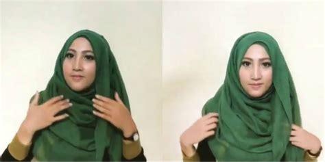 tutorial hijab pesta untuk wajah lonjong tutorial hijab paris untuk si wajah lonjong dream co id